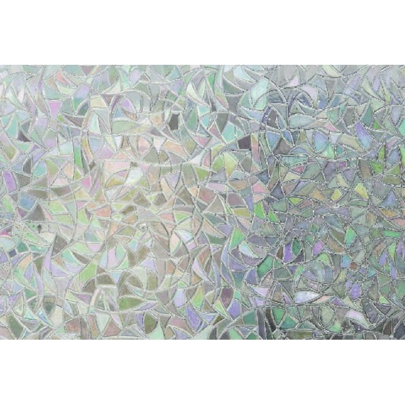 Autocolant Gekkofix Static  3D  Trasparent Vitraliu multicolor Catedrala 45cmx1.5m cod 10253