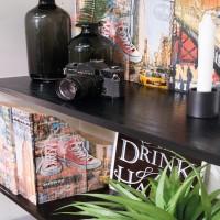 Autocolant d-c-fix Furnir negru 90cmx15m cod 200-5180