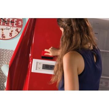 Autocolant d-c-fix Uni rosu lucios 45cmx2m cod 346-0161