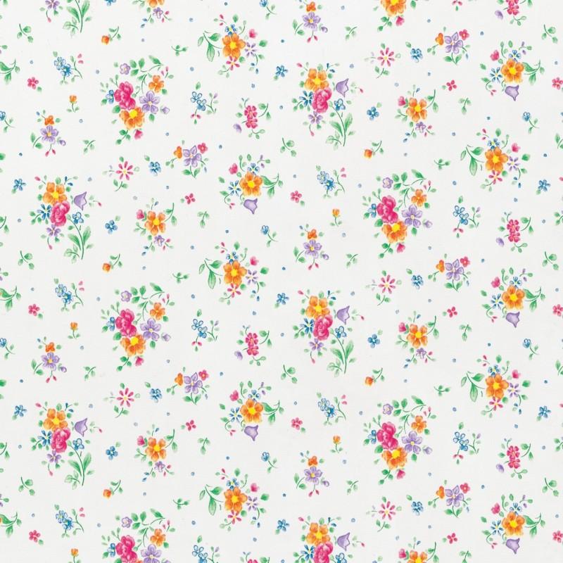 Autocolant d-c-fix Floricele pe fond alb 45cmx2m cod 346-0193