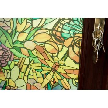 Autocolant d-c-fix vitraliu Semitransparent Flori Multicolore Tulia 45cmx2m cod 346-0647