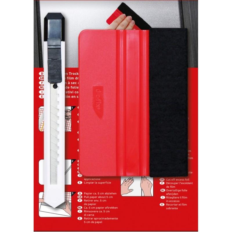 Kit Montaj Autocolant cod 399-6016 (racleta + cutter)