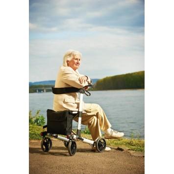 Cadru ajutator pentru mers cu roti pliabil (rolator) pentru exterior Premium Ridder Germania ( sustine maxim 136 kg) pentru seniori – A0300100 cod 38120
