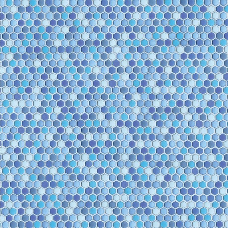 Tapet Ceramics Hexagon Blau d-c-fix imitatie faianta hexagoane albastre 67.5cmx20m cod 270-0164