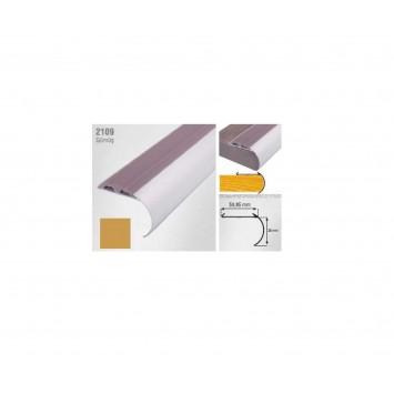 Profil pentru treapta curbat argintiu (silver)  2109 (38x50.85mm) x100cm cod 42170