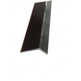 Profil cu rizuri pentru trepte, negru, Cod 2394 (22.5 x 40 mm) x100cm 42016