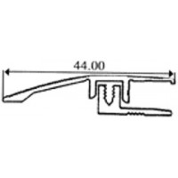 Profil cu diferenta de nivel Bronz (latime 44mmx90cm) cu gauri. Lichidare de stoc (posibil produs reambalat) cod 7440