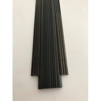 Profil drept pentru treapta cu banda de cauciuc Bronz-nuanta spre negru, 2151 (47mmx100cm)- 10 buc cod 42175