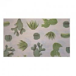 Covoras baie Friedola Cactus antiderapant nuante de verde dreptunghiular din spuma PVC 48x80 cm cod 77712