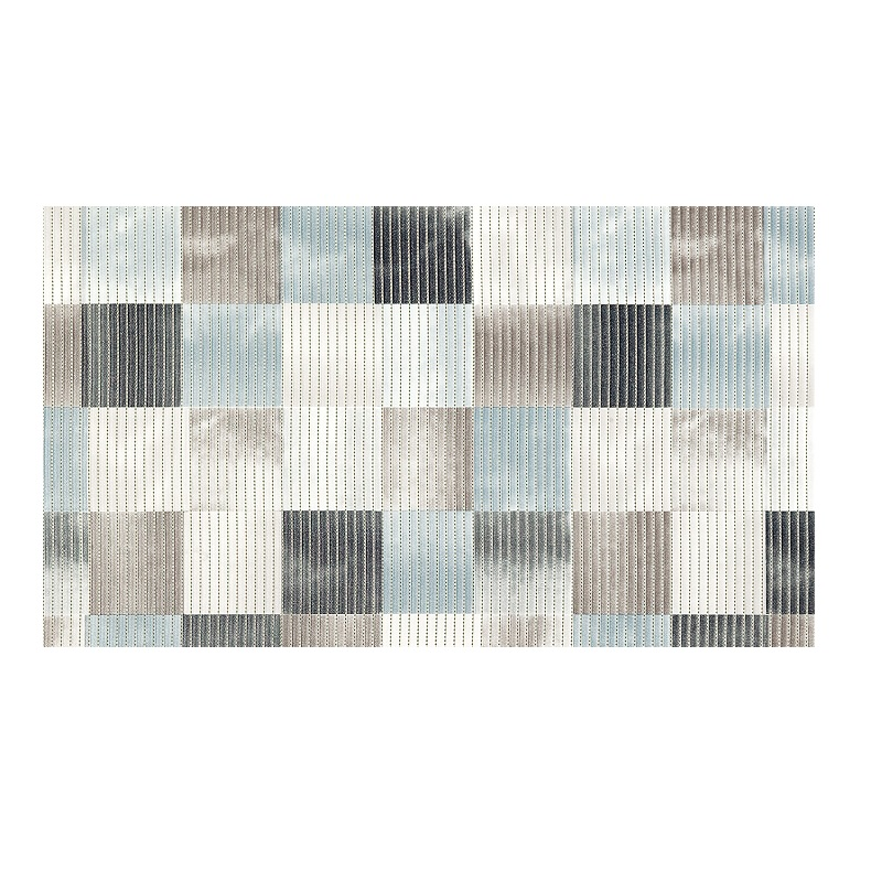Covoras baie Friedola Patrate antiderapant nuante de gri dreptunghiular din spuma PVC 48x80cm cod 77737