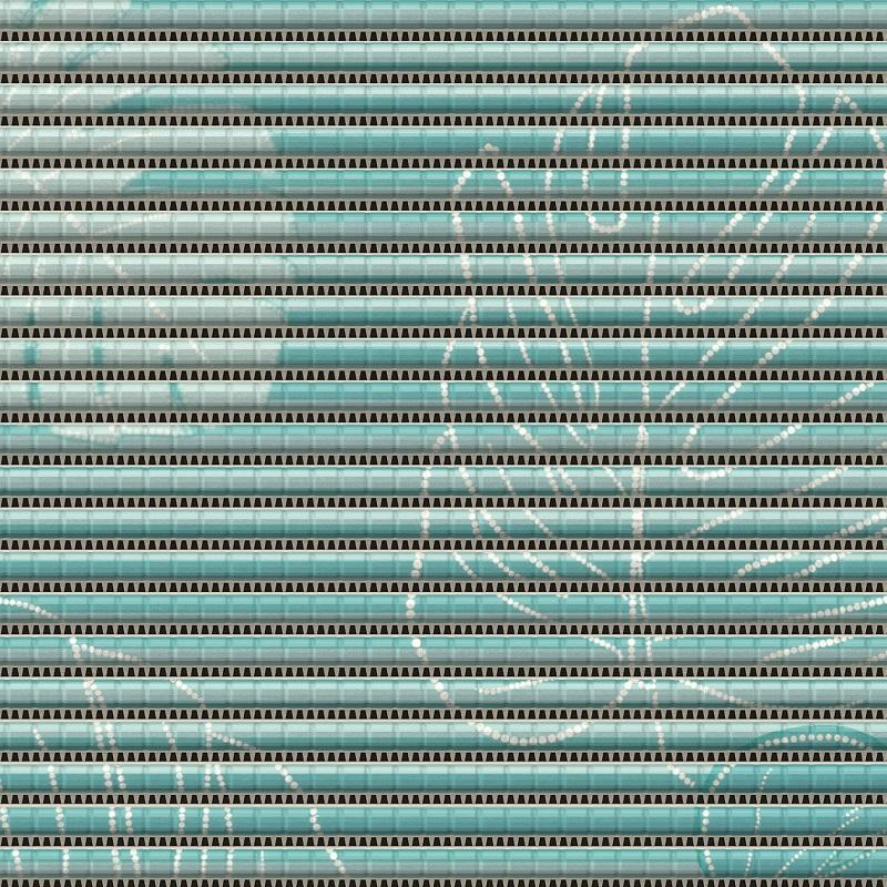 Covoras universal Friedola antiderapant din spuma PVC Monstera Turquoise (rola) 65 cm x 15 ml cod 79819.3