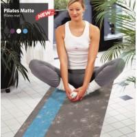 Saltea Pilates gri cu albastru si flori albe fabricata in Germania 60cm X 180cm 74071