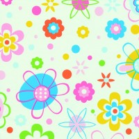 Autocolant Gekkofix flori si cercuri colorate 45cmx15m cod 12683