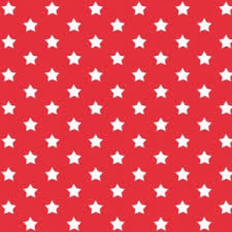 Autocolant Gekkofix Stele albe pe fond rosu -Stars Red 45cmx15m cod 13416