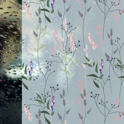 Autocolant Gekkofix vitraliu Semitransparent static (fara adeziv) flori de camp 67.5 cm x 1.5m cod 14147