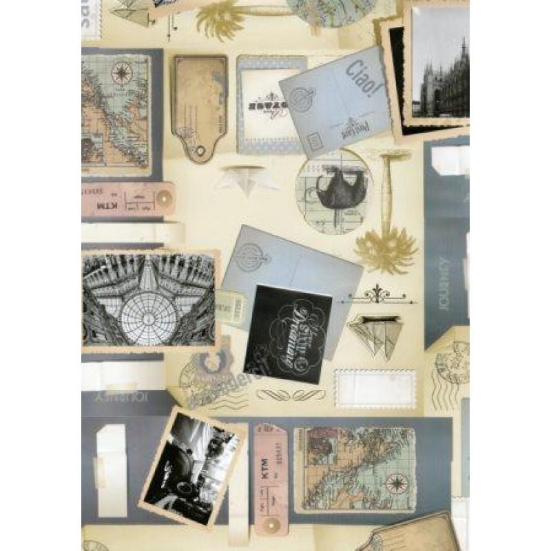 Fata de masa musama rola Gekkofix Notite Scrapbook 140cmx20ml cod 19272