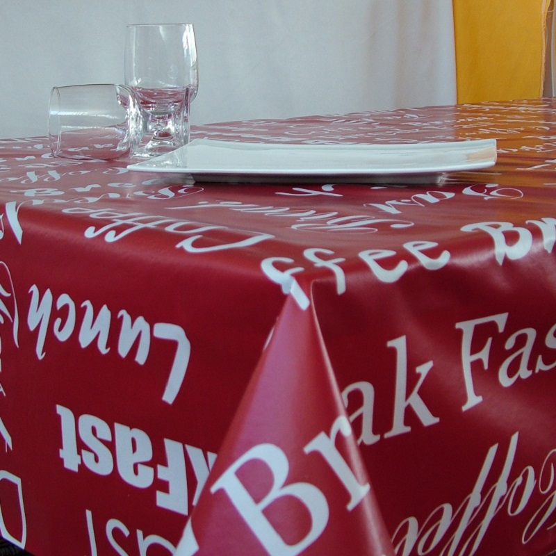Fata de masa Davo Pro musama rosu cu alb 120cmx160cm cod 40004