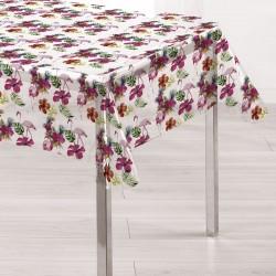 Fata de masa 100% din compus moale PVC Gemitex transparenta cu Flori Roz si Flamingo 140X180 cm - CS167 - Cod 40045