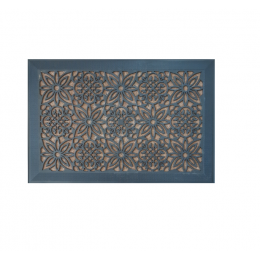 Covoras (Stergator) intrare Gemitex din cauciuc antiderapant negru cu polipropilena bej 40x60cm cod 40037