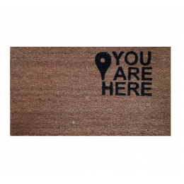 Covoras (Stergator) intrare Cocos Gemitex You are Here 40x70cm cod 40031