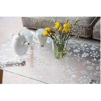 Autocolant d-c-fix Static Flori albe transparent 45cm x 1.5m cod 338-0013