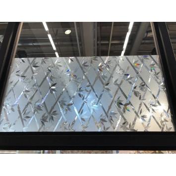 Autocolant Gekkofix Static 3D Transparent  Bambus 45cmx1.5m cod 10249