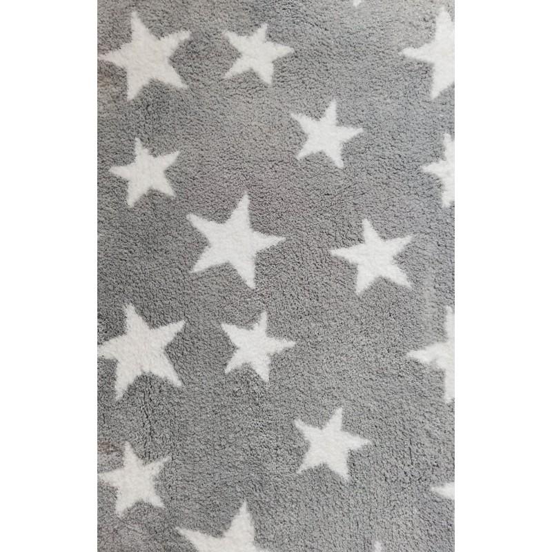 Covoras baie  Kleine Wolke  Stele albe cu gri  60x90cm cod 34236