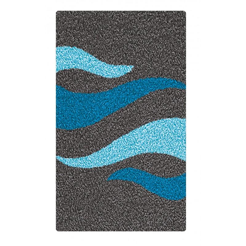 Covoras baie  Kleine Wolke  Flacara turcoaz negru gri  60x90cm cod 34237