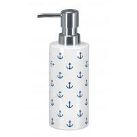 Dozator sapun lichid Kleine Wolke gama Anchor din ceramica alb cu model ancora bleumarin  cod 34246