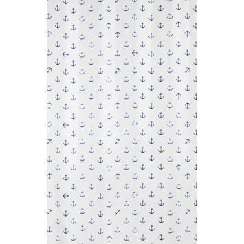 Suport pentru periute de dinti Kleine Wolke gama Anchor din ceramica alb cu model ancora bleumarin  cod 34245
