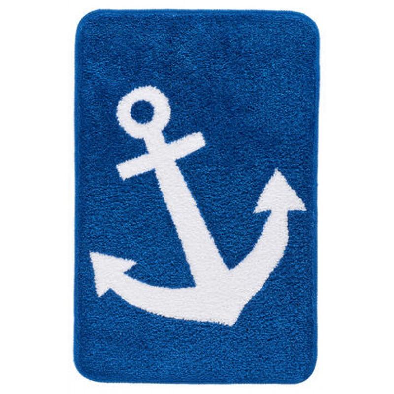 Covor baie  Kleine Wolke  albastru cu alb Anchor 55x85cm  cod 34249