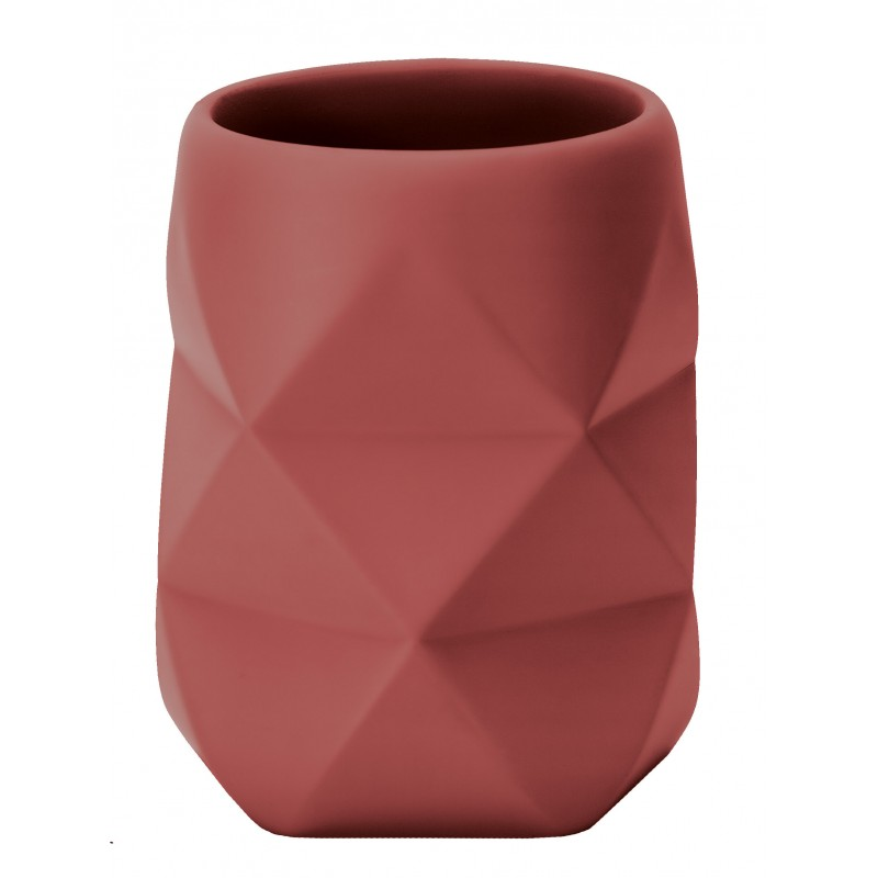 Suport pentru periuta de dinti Kleine Wolke Crackle rosu polisandru cod 34263