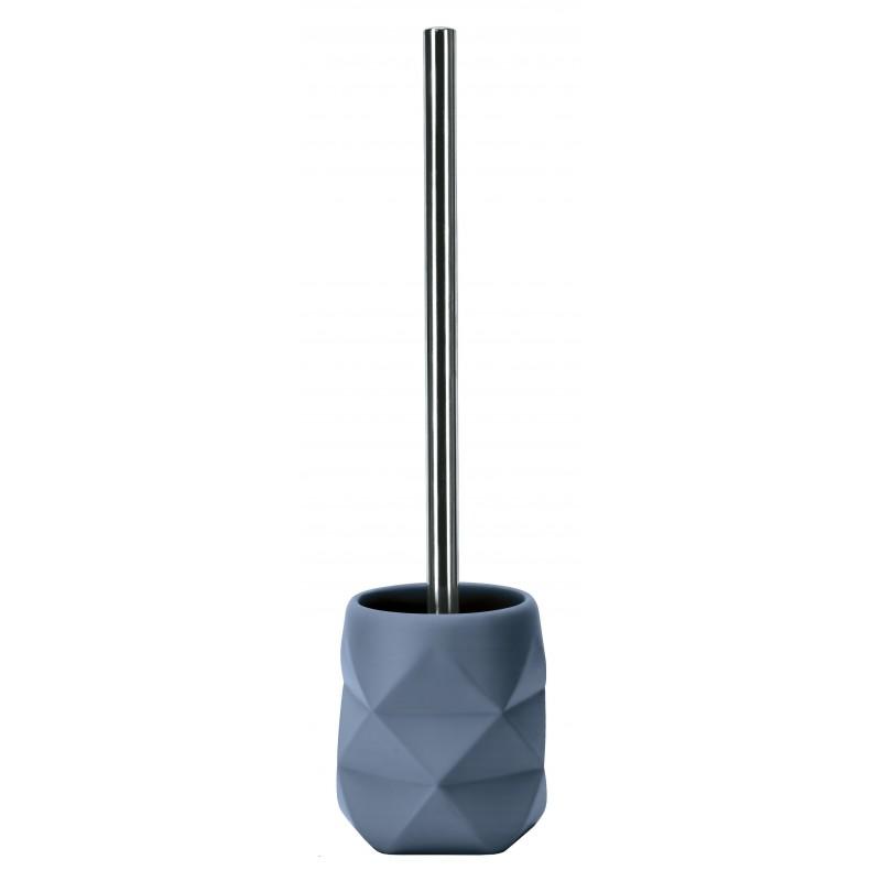 Suport + Perie WC Kleine Wolke Crackle gri albastrui cod 34268