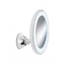 Oglinda cu ventuza si LED-uri Kleine Wolke Flexi Light, diametru 18 cm, mareste de 5 ori, rotire 180°, cod 34278