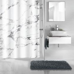 Perdea de dus Kleine Wollke imitatie marmura antracit Marble 100% poliester de inalta calitate cu aspect textil  cod 34280