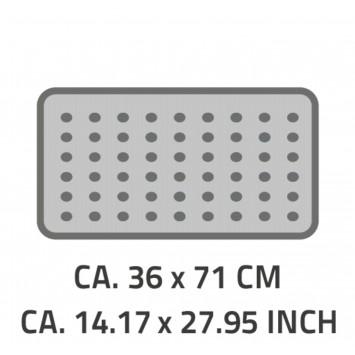 Covoras antiderapant pentru cada Ridder Promo gri 36x71cm cod 38151