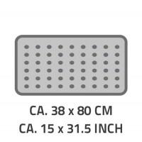 Covoras antiderapant pentru cada Ridder Playa gri 38x80cm cod 38145