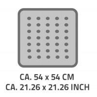 Covoras antiderapant Ridder Playa gri 54x54cm cod 38146