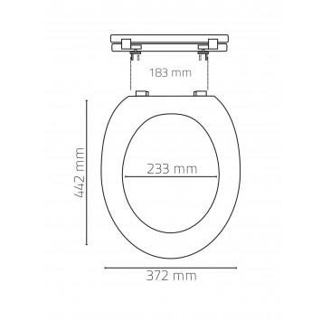 Capac wc Ridder cu inchidere amortizata (soft close)  rosu cod 38055 (02101106)