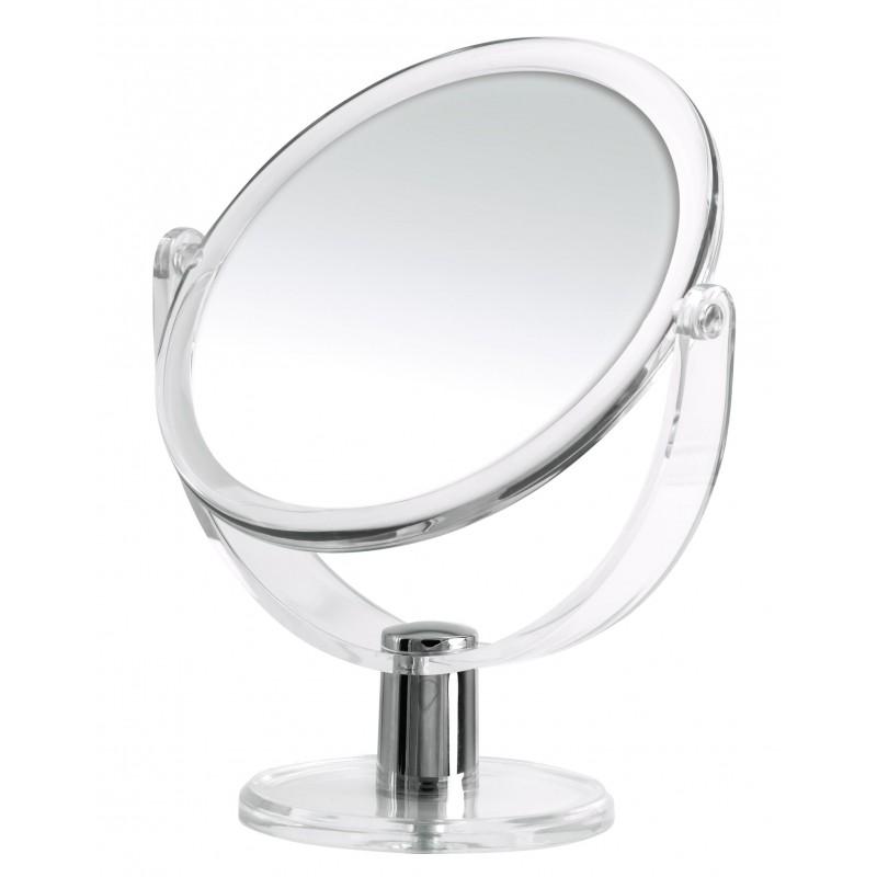 Oglinda cosmetica  Ridder transparenta, de masa,  diametru 13.5cm, 2 fete, una cu marire de pana la 3 ori  Kida cod 38140