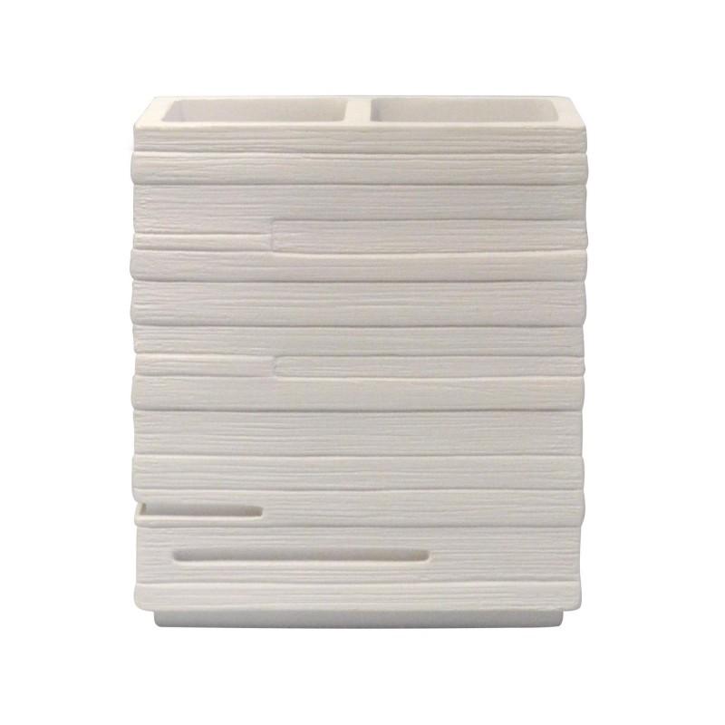 Suport accesorii cosmetice si periute de dinti Gama Caramida alba Brick Ridder  22150201 (cod 38135)