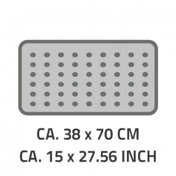 Covoras baie antiderapant Ridder din material plastic semitransparent Loup 38x70cm cod 38126