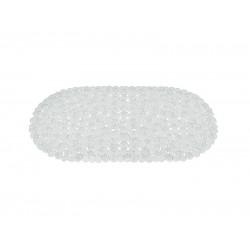 Covoras baie antiderapant Ridder pietre transparente din material plastic oval Stone 70x36cm  6104100 (cod 38127)