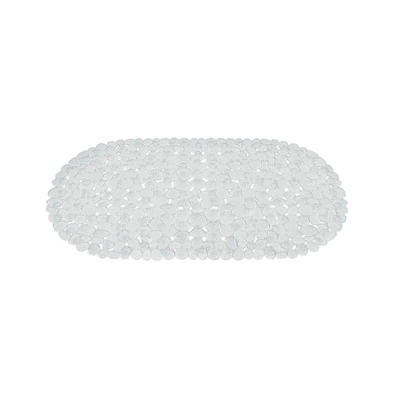 Covoras baie antiderapant Ridder pietre transparente din material plastic oval Stone 70x36cm  6104100 (cod 38127)