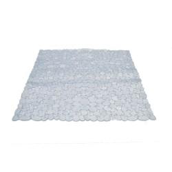 Covoras baie antiderapant Ridder pietre transparente din material plastic  patrat  Stone 54x54cm  6104200 (cod 31828)