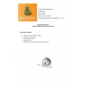 Suport 4 periute de dinti  Ridder cu ventuza  cod 38101 (12102200)