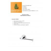 Suport hartie WC Ridder cu ventuza  cod 38103  (12106100)
