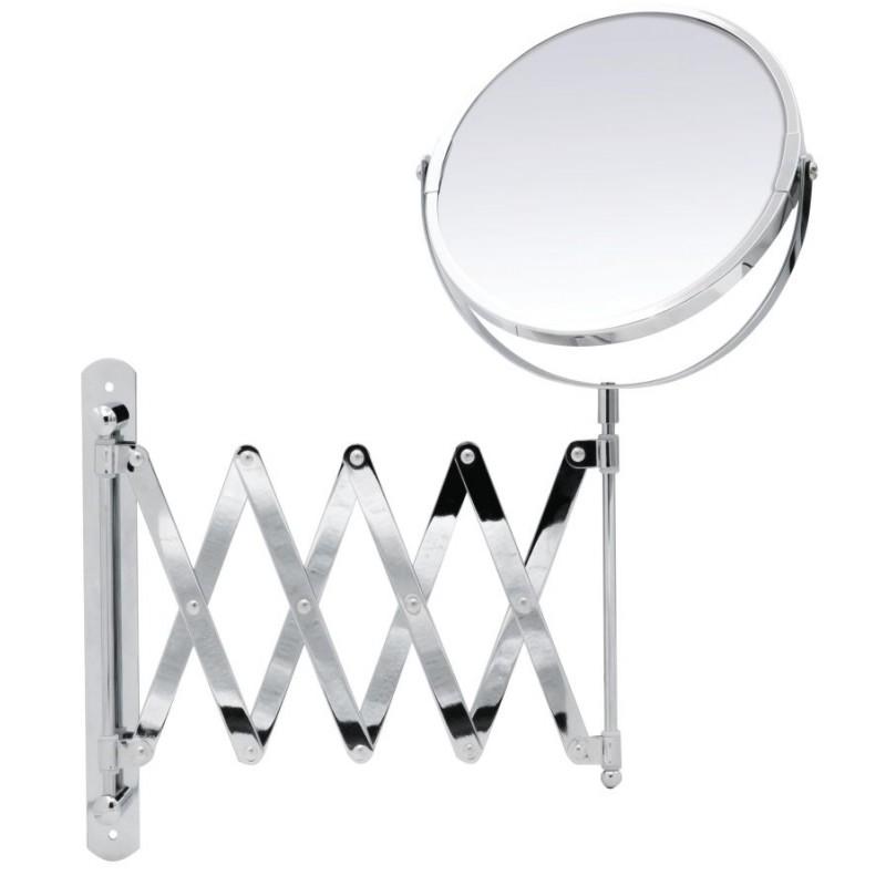 Oglinda cosmetica  cu brat flexibil cromat Ridder, cu marire de pana la 2 ori, diametru 16.5 cm Janin  cod 38141