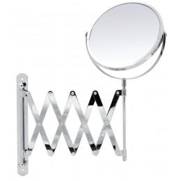 Oglinda cosmetica  cu brat flexibil cromat Ridder, cu marire de pana la 2 ori, diametru 16.5 cm Janin  03006200 (cod 38141)