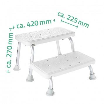 Scaun auxiliar pentru baie cu doua trepte  Ridder A0102001 (cod 38133)